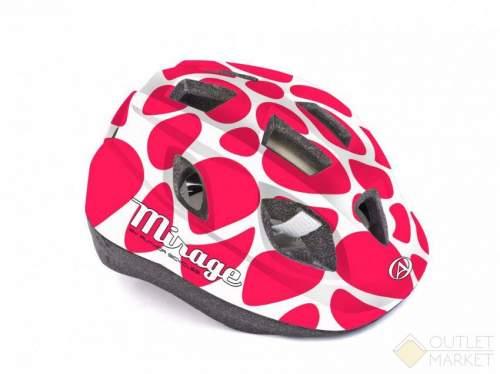 Шлем AUTHOR с сеточкой Mirage 196 INMOLD детский/подр. 12отв. красно-белый