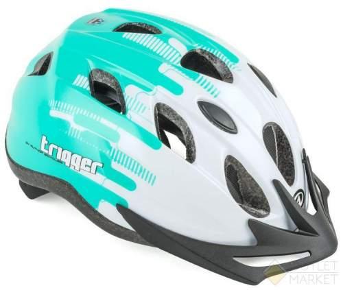 Шлем AUTHOR с сеточкой Trigger 174 Wht INMOLD подростковый 12отв бело-зелен