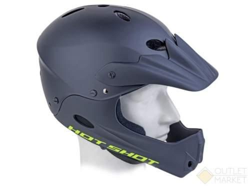 Шлем AUTHOR Freeride/DH FullFace ABS-HARD SHELL суперпрочн. Hot Shot INMOLD 193 Matt Blk 17отв. черн.матовый