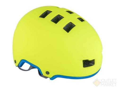 Шлем AUTHOR универс/ВМХ/FREESTYLE Lynx X9 HARD SHELL 192 Yell-Neon/Blue-Neon 10отв. суперпрочн. неоново желт.-голубой