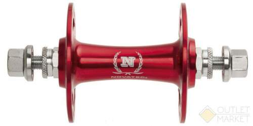Втулка передняя NOVATEC для Singlespeed/Fixie алюминиевая 32 отверстия гайки ось М9х140 мм