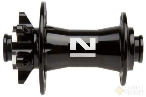 Втулка передняя NOVATEС алюминиевая 32 отверстия диск 2 картр. подшипника для оси 15 мм
