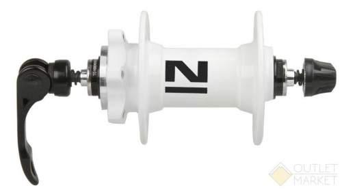 Втулка передняя NOVATEС алюминиевая под диск 2 картриджа подш. 216 г. эксцентрик