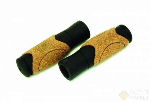 Грипсы CLARKS С82-CORK резиновые с корковыми вставками эргономичные 125мм