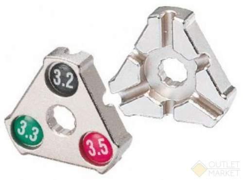 Захват для спиц BIKEHAND Cr-Mo 0.127 /0.130 /0.136 (3,2/3,3/3,5мм) YC-1A трeугольный серебро