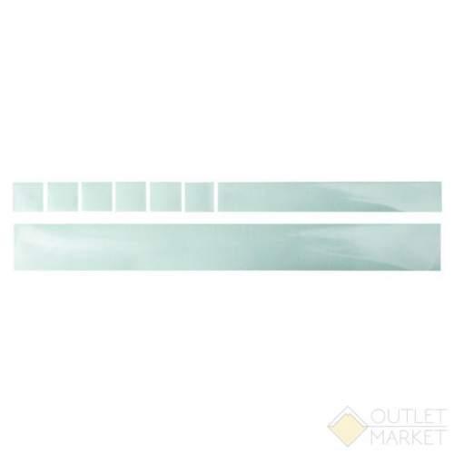 Защита перьев рамы M-WAVE наклейки 1*500х55 мм 1*35x260 мм 6*35x35 мм прозрачная прочная фольга