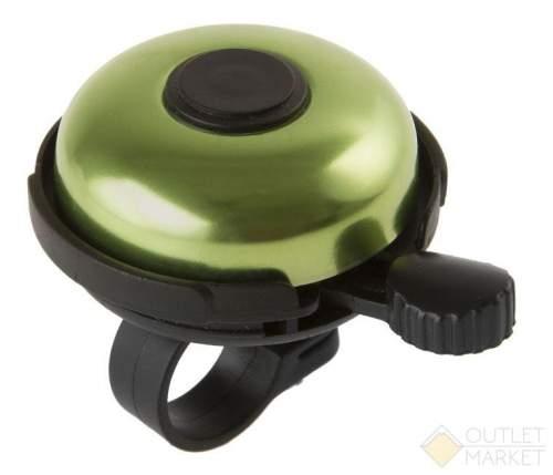 Звонок велосипедный M-WAVE алюминий/пластик D=53 мм зелёный