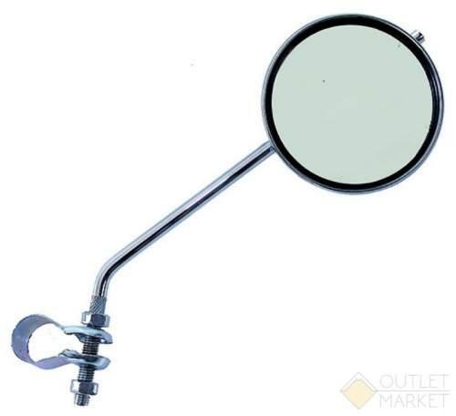 Зеркало велосипедное USPORTS плоское круглое D=80 мм регулируемое