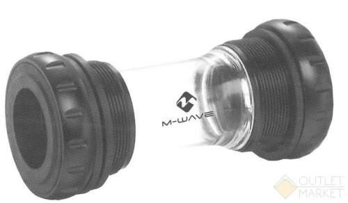 Каретка M-WAVE HOLLOWTECH II алюминиевые чашки 2 промышленных подшипника с адаптером