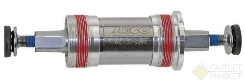 Каретка NECO Cr-Mo 68 мм алюминиевые чашки герметичные подшипники 107,5/20,5 мм
