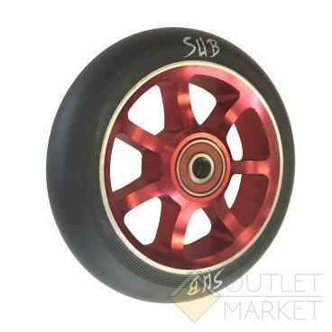 Колесо для самоката SUB трюкового фрезерованое алюминиевое с подшипником ABEC9 100 мм анодированное