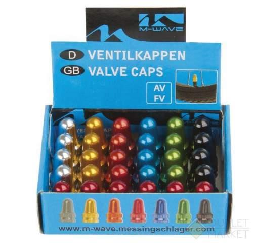 Колпачки для ниппеля M-WAVE авто/спорт алюминиевые цвета 2 шт