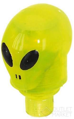 Колпачки для ниппеля инопланетянин пластик авто/спорт ниппель со светодиодом с батарейкой