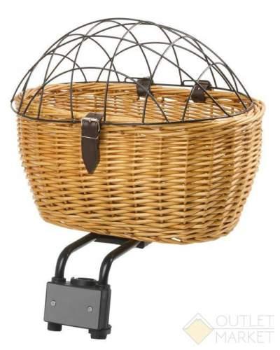 Корзина велосипедная M-WAVE для животных быстросъемное 43х30х22/14 см сталь-дерево плетёная
