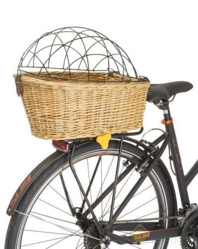 Корзина велосипедная M-WAVE для животных на багажник быстросъемная 44х31х22/16 см сталь-дерево плетёная