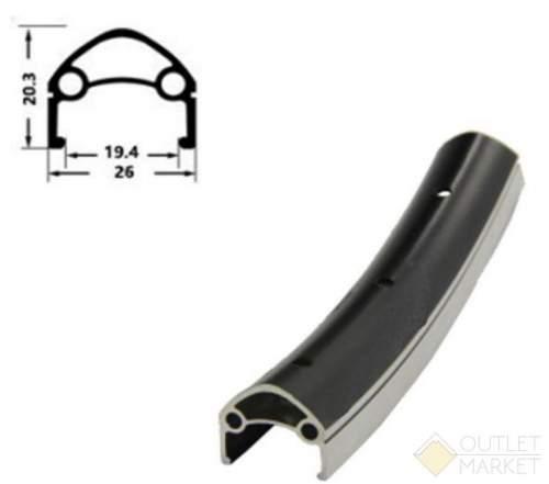 Обод MARK19 H35231 28 двойной с индикатором износа 622х26/19,4х20,3 мм 32H