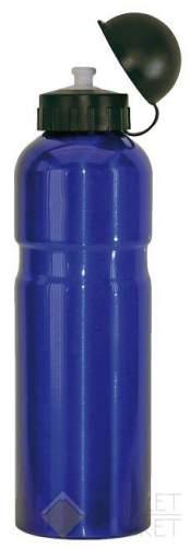 Фляга для велосипеда M-WAVE 0,75 алюминий с крышкой синяя