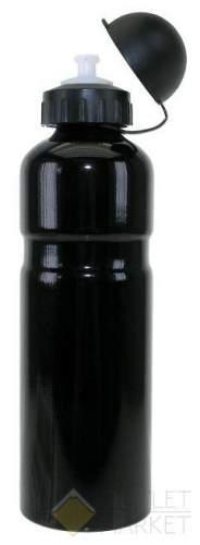 Фляга для велосипеда M-WAVE 0,75 алюминий с крышкой черная