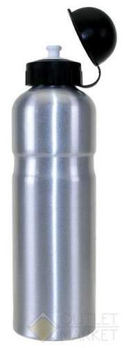Фляга для велосипеда M-WAVE 0,75 алюминий с крышкой серебро