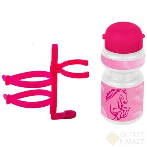 Фляга для велосипеда VENTURA KIDS 0,3л розовая лошадка с деражтелем