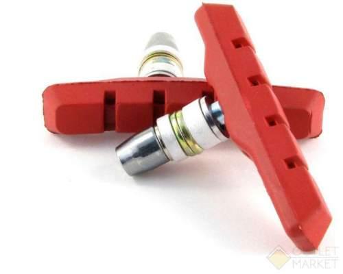 Тормозные колодки MARK19с крепежом симетр. 70мм (5) красные