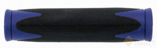 Грипсы 5-410363 на руль резин. 2-х компонент. 130мм черно-синие VELO