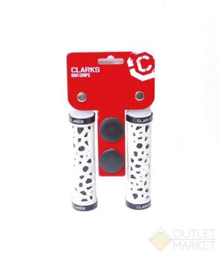 Грипсы CLO208 на руль 3-229 резина/гель паутина 130мм с 2 фиксат. черно-белые CLARK S