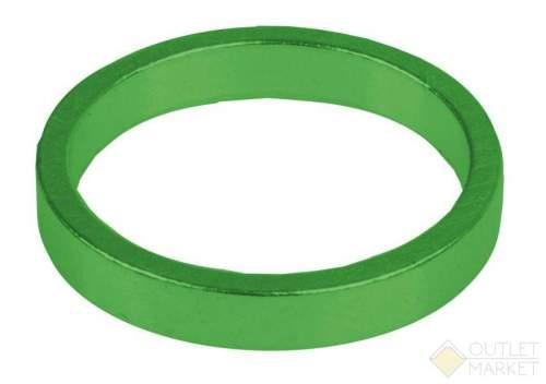 Проставочное кольцо M-WAVE спорт.1 1/8 алюм. 6шт по 5 мм анодир. зеленый