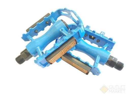 Педали MARK19 алюминиевые литые синие