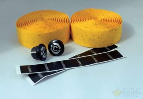 Обмотка руля CLARK'S CHBT корковая+крепеж+заглушки на руль желтая CLARK'S