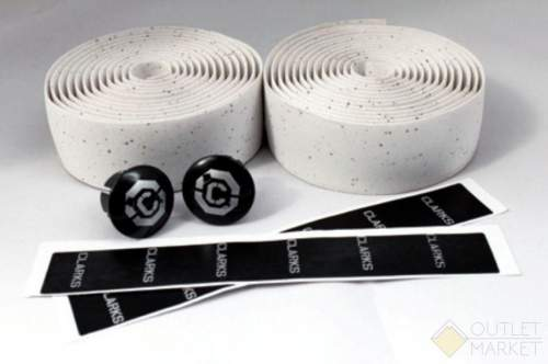 Обмотка руля CHBT корковая+крепеж+заглушки на руль белая CLARK S