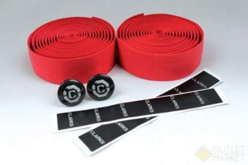 Обмотка руля CHBT корковая+крепеж+заглушки на руль красная CLARK S