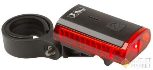 Фонарь задний M-WAVE 3 диода/1ф красный 23г Li-Ion АКБ индикатор разряда USB-зарядка