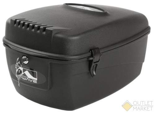 Сумка бокс M-WAVE на багажник V=17л пластик пыле и влагозащитный с замком чёрная