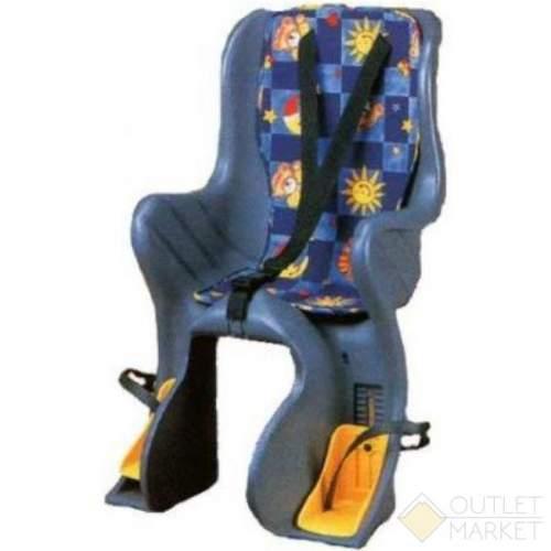 Детское кресло SF-928L на багажник до 22 кг серое