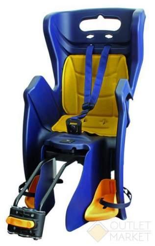 Детское кресло BELLELLI TUV на подседельный штырь регулируемый угол до 22 кг синее