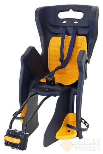 Детское кресло BELLELLI TUV на подседельный штырь до 22 кг тёмно синее