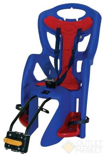 Детское кресло BELLELLI TUV на подседельный штырь до 22 кг синее