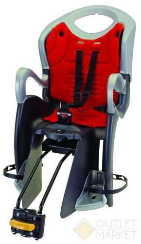Детское кресло BELLELLI TUV на подседельный штырь до 22 кг регулируемый угол и высота чёрно белое