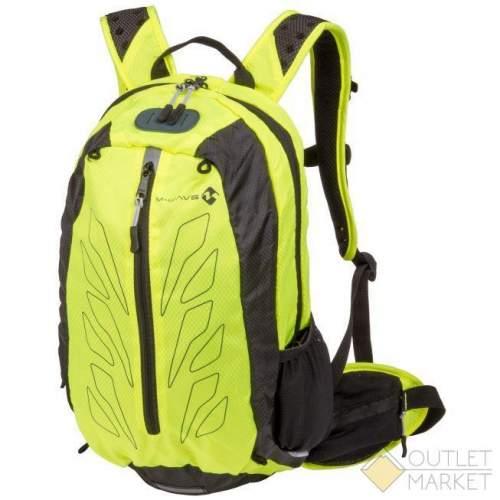 Рюкзак M-WAVE облегчённый 46х28х12см V=15л дышащая сетка на спине с дождевым чехлом поянсной ремень