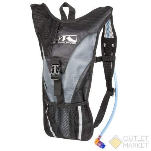Рюкзак M-WAVE SOURCE с гидропаком 2л черно-серый