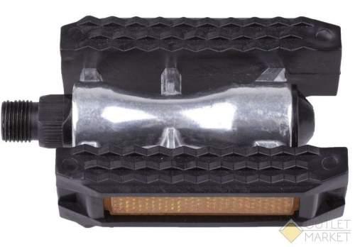 Педали MARK19 алюминиевые с резиновым ободом герметичная ось с отражателем