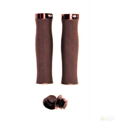 Грипсы MARK19 H217 OneSideLock 130 мм c фиксатором эргономичные коричневые