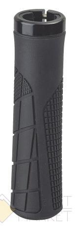 Грипсы H6 OneSideLock 135мм резиновые новый антискольз. дизайн c 1 фикс. черные NEW
