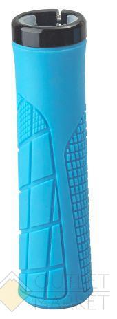 Грипсы H6 OneSideLock 135мм резиновые новый антискольз. дизайн c 1 черн. фикс. синие NEW