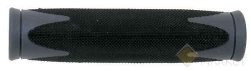 Грипсы резин. 2-х компонент. 130мм черно-серые VELO