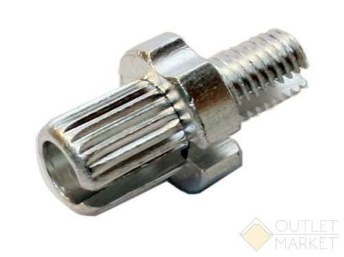 Тормозной натяжитель тросика тормозов V-Brake М10x17mm серебристый