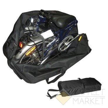 Чехол-тент MARK19 для переноски СКЛАДНОГО велосипеда (колеса 20)
