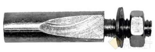 Клинья для шатунов оцинков. длина 40мм d=9мм с гайкой и шайбой серебр.