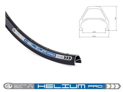 Обод AUTHOR Helium Pro 26 двойной пистонированный (559х23/17,8х19,1 32отв.) черный